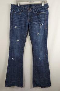 William Rast  Flap distressed jean Flare size 30